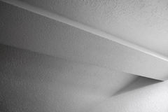 Inre fragment med strålen och väggar Fotografering för Bildbyråer