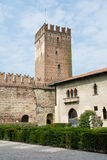 Inre fyrkant av den gamla slotten Royaltyfria Foton