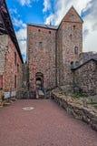 Inre gård av den Kastelholm slotten på Aland öar i Finland Arkivbild