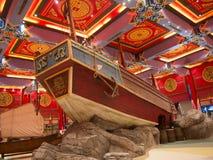 Inre galleria för kinesiskt skepp Royaltyfria Bilder