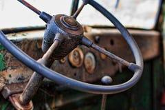 inre gammal lastbil Arkivfoton