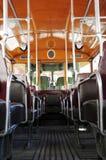 Inre gammal spårvagn i Paris Royaltyfria Bilder
