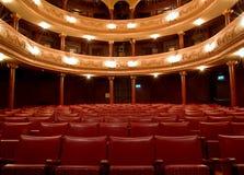 inre gammal teater Arkivbild