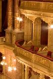 inre gammal teater Fotografering för Bildbyråer