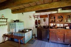 inre gammalt trä för hus Royaltyfri Bild