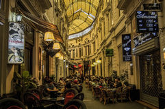 Inre gata i Bucharest, Rumänien Fotografering för Bildbyråer