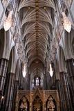 Inre gotiska detaljer för Westminster Abbey Arkivfoto