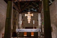 Inre grekisk ortodox kyrka av förklaringen royaltyfri foto