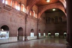 Inre Hall av det Junagarh fortet, Bikaner, Indien royaltyfria bilder