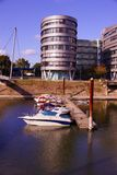 Inre hamn Duisburg Arkivbild