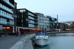 Inre hamn i Munster, Tyskland Arkivfoto