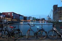 Inre hamn i Munster, Tyskland Arkivbild