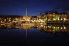 Inre hamnskymning, Victoria, British Columbia Arkivbild