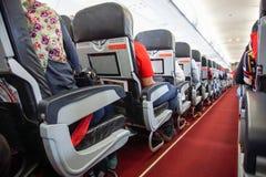 inre i det luftAsien flygbolaget Arkivfoto