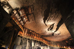 Inre i salta miner i Wieliczka Royaltyfria Foton