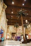 Inre IBN Battuta Mall lager Varje korridor dekoreras Arkivbild