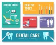 Inre illustrationbakgrund för tand- kontor Design för tandläkaresymbolsbegrepp stock illustrationer