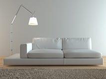 inre italiensk modern sofa Royaltyfri Fotografi
