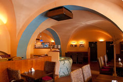 inre italiensk restaurang Royaltyfri Fotografi