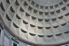 inre italy för kupol pantheon rome Royaltyfria Foton