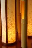 inre japansk lampa Royaltyfria Bilder