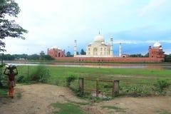Inre jordning av det agra fortet Indien Arkivbild