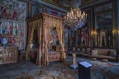 Inre kejsarelägenhet, Fontainebleau royaltyfri bild