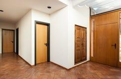 Inre klassiskt hus, ingång fotografering för bildbyråer