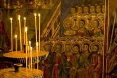 inre klostermålningar för symbol Royaltyfria Bilder