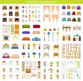 Inre konstruktion Beståndsdelar av designen för att skapa inre vektor stock illustrationer