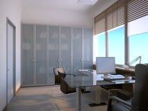 inre kontor royaltyfri illustrationer