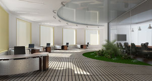 inre kontor Fotografering för Bildbyråer