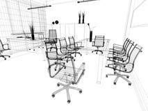 inre kontor stock illustrationer
