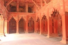 Inre korridor i Taj Mahal, Agra, Indien Arkivfoto