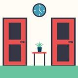 Inre korridor med möblemang vektor illustrationer