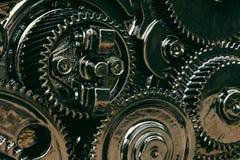 Inre kugghjul av motorn Royaltyfria Bilder