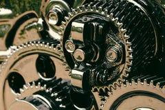 Inre kugghjul av motorn Arkivfoto