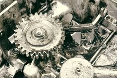 Inre kugghjul av motorn Royaltyfri Bild