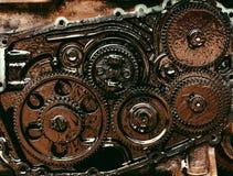 Inre kugghjul av motorn Arkivbilder