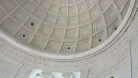 "Inre kupol av Jefferson Memorial †""Washington, D C Arkivfoton"