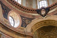 Inre kyrka av för Peterskirche eller St Peter ` s i Wien Royaltyfri Bild