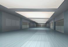inre långt för tom korridor Arkivbild