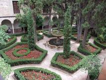 inre la för alhambra trädgård Royaltyfri Foto