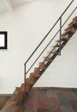 Inre lantligt hus, trappa Arkivbilder