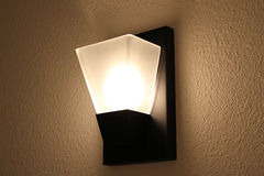inre ljus modern vägg Fotografering för Bildbyråer