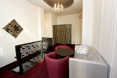 inre lobby för cafehotell Royaltyfria Foton