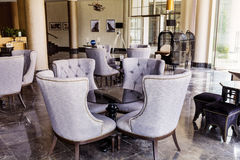 inre lobby för designhotell Royaltyfri Bild