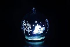 Inre luminiscens av nytt års leksak Royaltyfri Fotografi