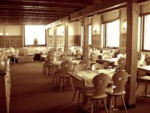 inre lyxig restaurang Arkivbilder