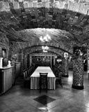 inre lyxig slott Konstnärlig blick i svartvitt Royaltyfria Bilder